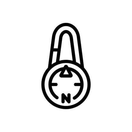 touristic compass icon vector. touristic compass sign. isolated contour symbol illustration