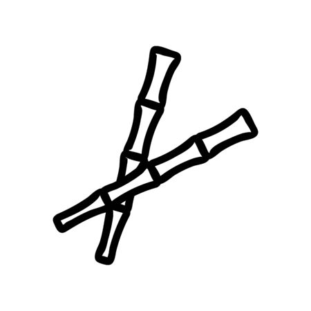 bamboo chopstick icon vector. bamboo chopstick sign. isolated contour symbol illustration