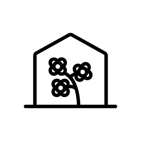 canola in greenhouse icon vector. canola in greenhouse sign. isolated contour symbol illustration