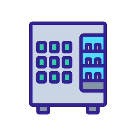 vending machine seller snack icon vector. vending machine seller snack sign. isolated color symbol illustration