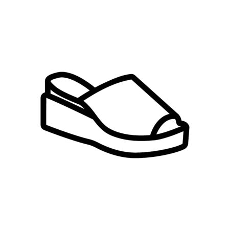 wedge shoe icon vector. wedge shoe sign. isolated contour symbol illustration Vettoriali