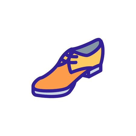 business shoe icon vector. business shoe sign. isolated color symbol illustration Vetores