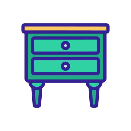 nightstand room furniture icon vector. nightstand room furniture sign. isolated color symbol illustration