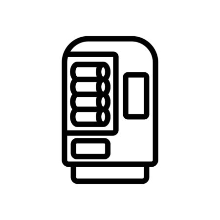 vending machine with drinks icon vector. vending machine with drinks sign. isolated contour symbol illustration