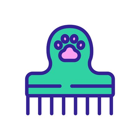 pet comb icon vector. pet comb sign. isolated color symbol illustration