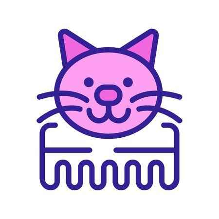 cat comb icon vector. cat comb sign. isolated color symbol illustration Stock Illustratie