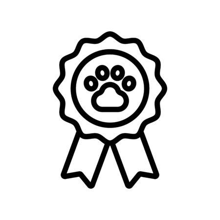 dog medal award icon vector. dog medal award sign. isolated contour symbol illustration Stock Illustratie