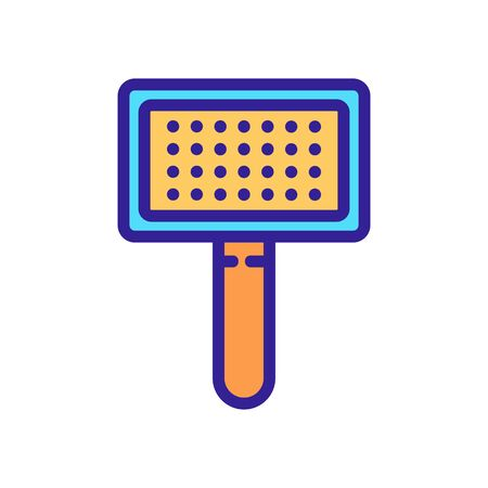 pet hair brush icon vector. pet hair brush sign. isolated color symbol illustration Stock Illustratie