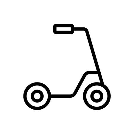 kick scooter city transport icon vector. kick scooter city transport sign. isolated contour symbol illustration
