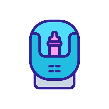 sterilizer electronic device icon vector. sterilizer electronic device sign. isolated color symbol illustration