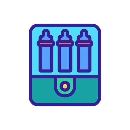 sterilizer for steaming icon vector. sterilizer for steaming sign. isolated color symbol illustration