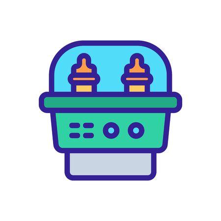 vecteur d'icône outil stérilisateur. signe d'outil de stérilisateur. illustration de symbole de couleur isolée Vecteurs