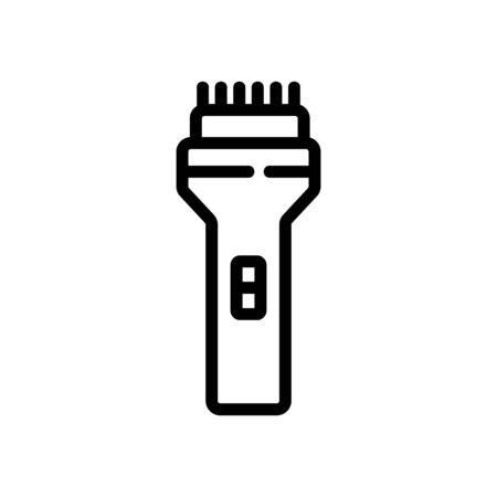 hair cut electronic equipment icon vector. hair cut electronic equipment sign. isolated contour symbol illustration Stock Illustratie