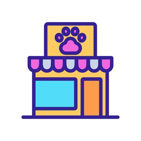 pet shop icon vector. pet shop sign. isolated color symbol illustration