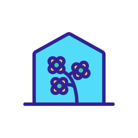 canola in greenhouse icon vector. canola in greenhouse sign. isolated color symbol illustration