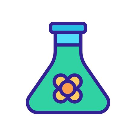 canola serum in flask icon vector. canola serum in flask sign. isolated color symbol illustration Ilustração