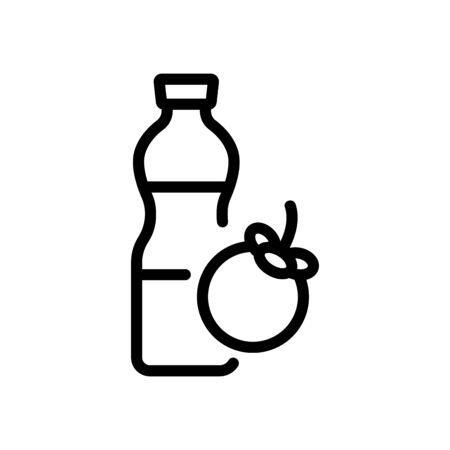 mangosteen freshness drink bottle icon vector. mangosteen freshness drink bottle sign. isolated contour symbol illustration