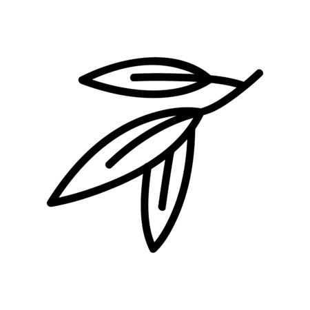eucalyptus plant leaves icon vector. eucalyptus plant leaves sign. isolated contour symbol illustration