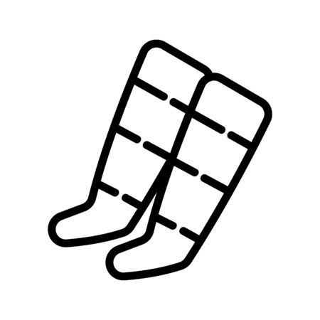 anti cellulite socks icon vector. anti cellulite socks sign. isolated contour symbol illustration