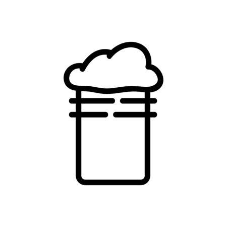 foamy slime in cup icon vector. foamy slime in cup sign. isolated contour symbol illustration