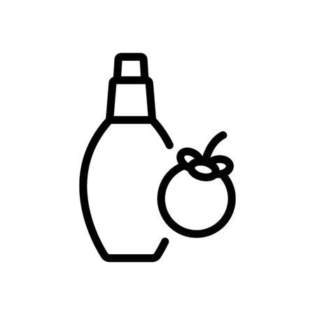 mangosteen perfume bottle icon vector. mangosteen perfume bottle sign. isolated contour symbol illustration