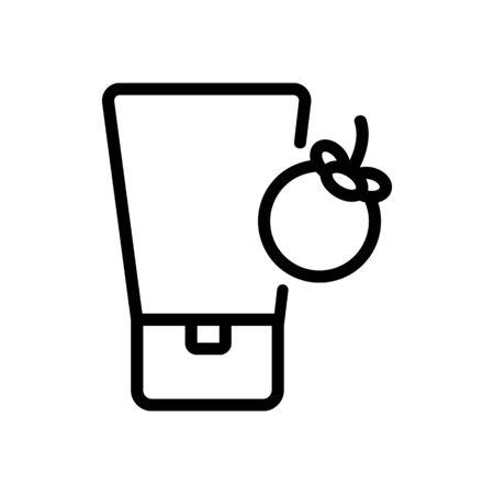 mangosteen cosmetic cream tube icon vector. mangosteen cosmetic cream tube sign. isolated contour symbol illustration Ilustracja