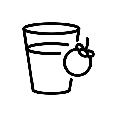 mangosteen refresh drink cup icon vector. mangosteen refresh drink cup sign. isolated contour symbol illustration