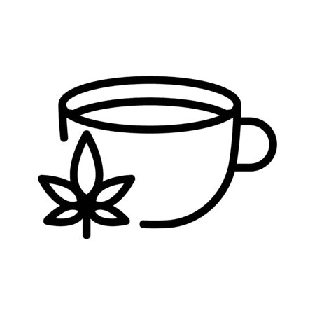 cannabis drink icon vector. cannabis drink sign. isolated contour symbol illustration