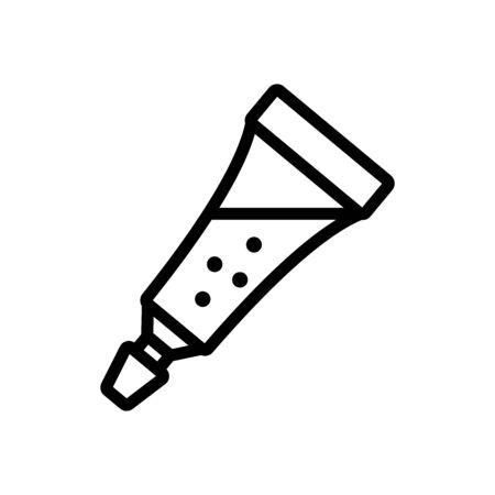 slime liquid in tube icon vector. slime liquid in tube sign. isolated contour symbol illustration