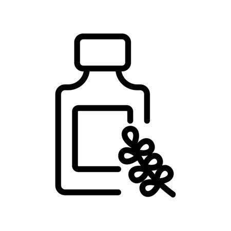 thyme serum bottle icon vector. thyme serum bottle sign. isolated contour symbol illustration