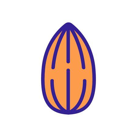 almond delicious nut icon vector. almond delicious nut sign. color symbol illustration