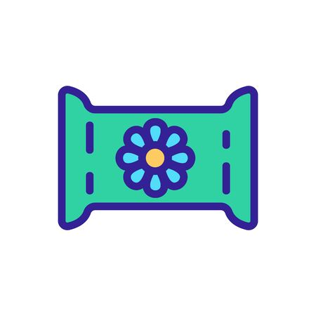 chamomile package icon vector. chamomile package sign. color symbol illustration