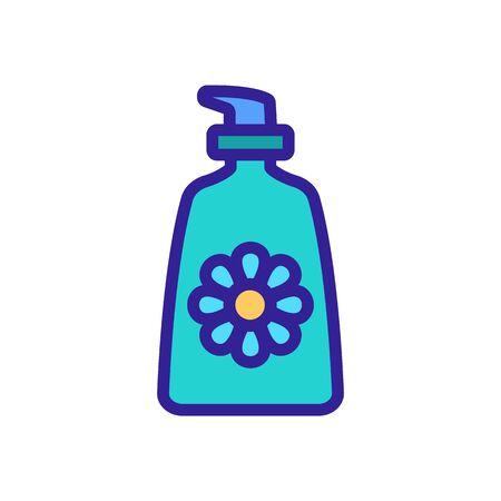 chamomile cream tube icon vector. chamomile cream tube sign. color symbol illustration