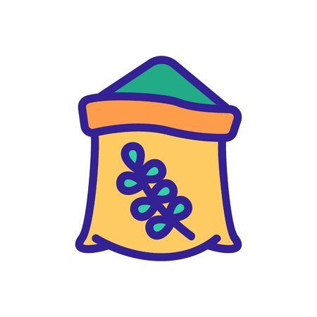 thyme oil bottle icon vector. thyme oil bottle sign. color symbol illustration 向量圖像