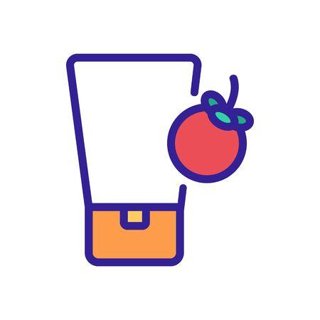 mangosteen cosmetic cream tube icon vector. mangosteen cosmetic cream tube sign. color symbol illustration