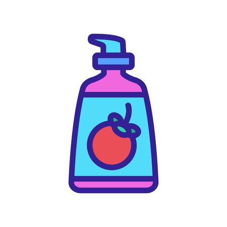mangosteen liquid sopa bottle icon vector. mangosteen liquid sopa bottle sign. color symbol illustration Illustration