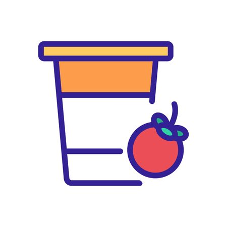 mangosteen fruit drink cup icon vector. mangosteen fruit drink cup sign. color symbol illustration Illustration