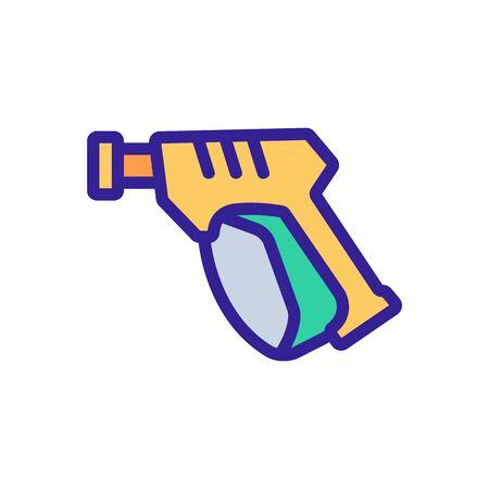 pressure washer equipment icon vector. pressure washer equipment sign. color symbol illustration