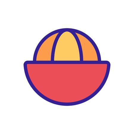 mangosteen sliced citrus fruit icon vector. mangosteen sliced citrus fruit sign. color symbol illustration 向量圖像