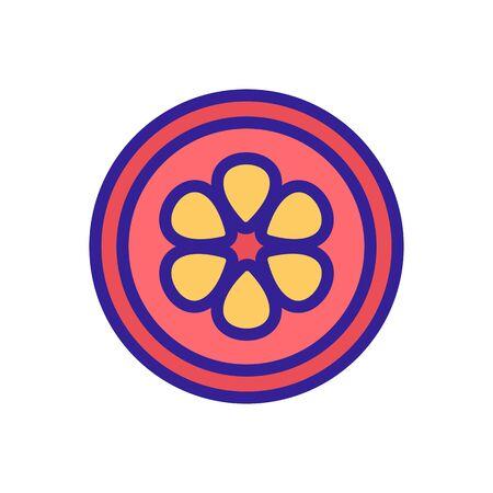 mangosteen cut fruit icon vector. mangosteen cut fruit sign. color symbol illustration 向量圖像