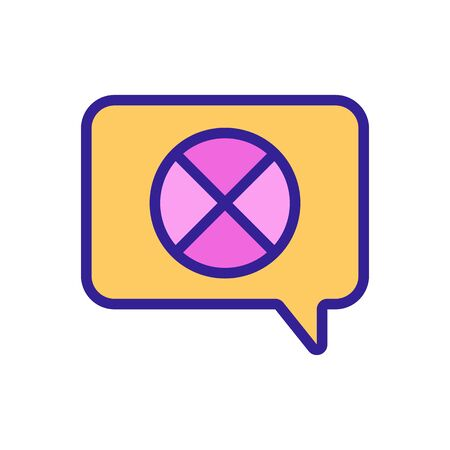 renunciation mark in quote frame icon vector. renunciation mark in quote frame sign. color symbol illustration