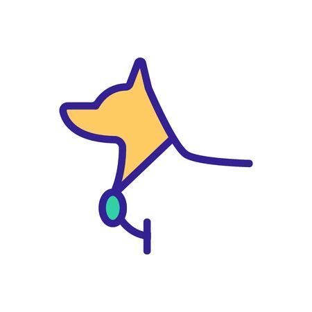 dog with medal award icon vector. dog with medal award sign. color symbol illustration 向量圖像