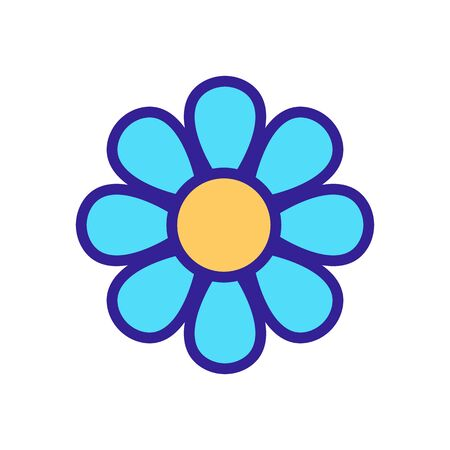 chamomile blooming bud icon vector. chamomile blooming bud sign. color symbol illustration