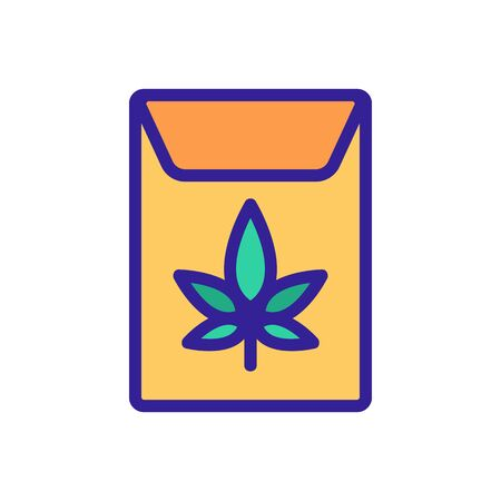cannabis in paper package icon vector. cannabis in paper package sign. color symbol illustration 向量圖像