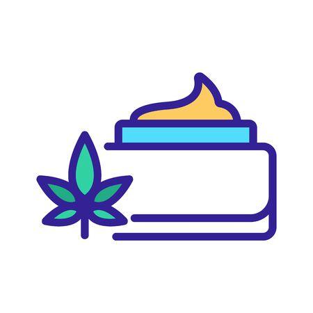 cannabis cream container icon vector. cannabis cream container sign. color symbol illustration 向量圖像