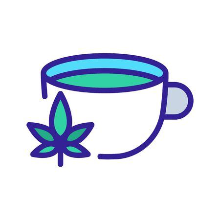 cannabis drink icon vector. cannabis drink sign. color symbol illustration 向量圖像