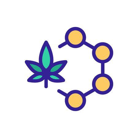 cannabis molecule icon vector. cannabis molecule sign. color symbol illustration