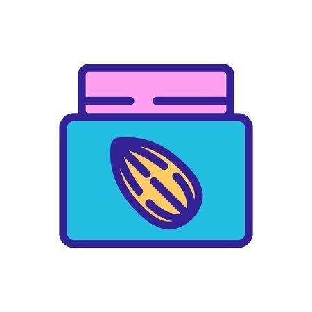 almond cream container icon vector. almond cream container sign. color symbol illustration
