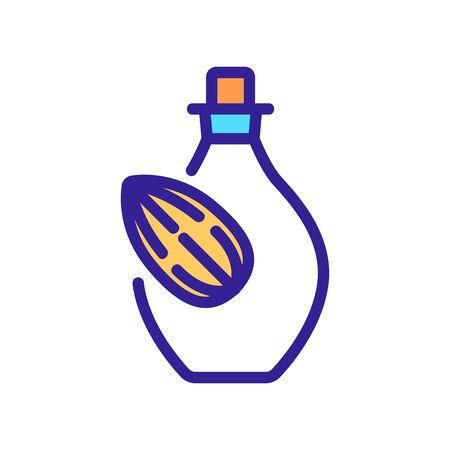 almond serum bottle icon vector. almond serum bottle sign. color symbol illustration 向量圖像