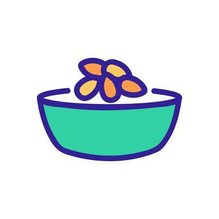 almond dish ingredient icon vector. almond dish ingredient sign. color symbol illustration 向量圖像